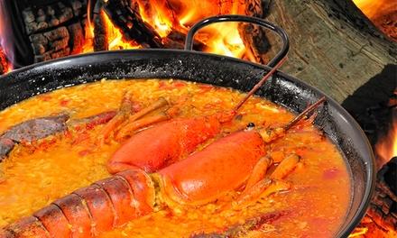 Oferta Menú: arroz con bogavante y vino