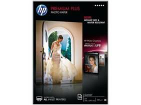 HP CR672A Papel fotográfico satinado Premium Plus 20 hojas A4