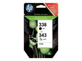 HP Pack 338 + 343 Tinta negra y color