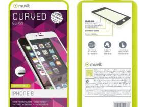 Protector pantalla Muvit Cristal templado  curvo blanco para iPhone 8