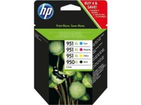 Pack de ahorro de 4 cartuchos de tinta original HP 950XL negro/951XL cian/magenta/amarillo