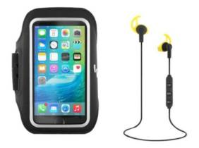 TnB pack auriculares Bluetooth + brazalete deportivos Negro