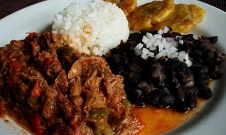 Oferta Menú cubano para dos personas