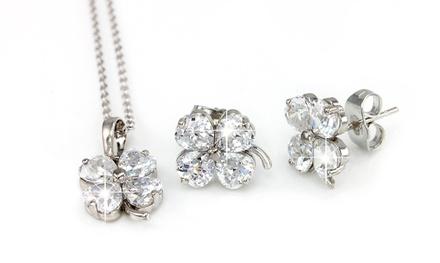Oferta Collar y pendientes con cristales